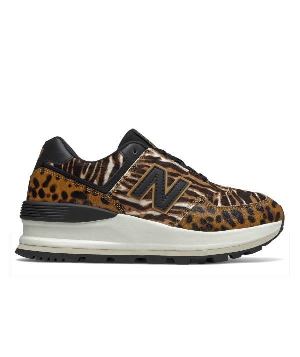 New Balance 574 ÉMISSIONS de baskets femme leopard