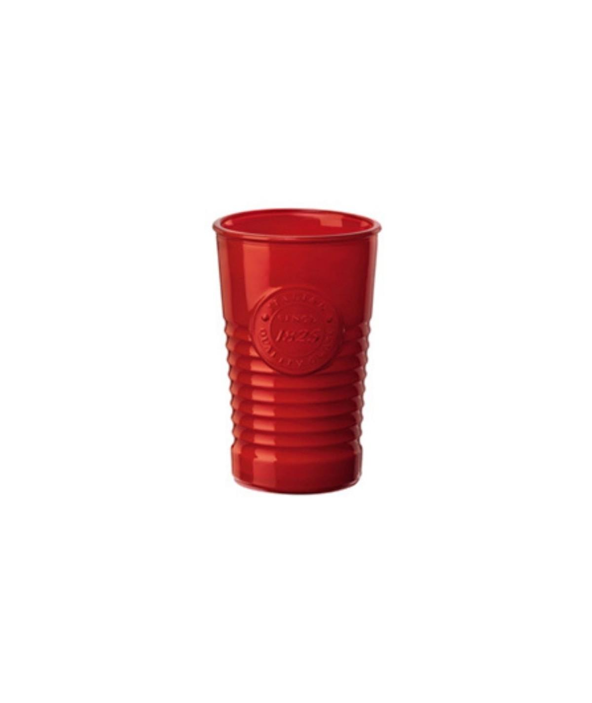 Bicchiere in ceramica rosso...