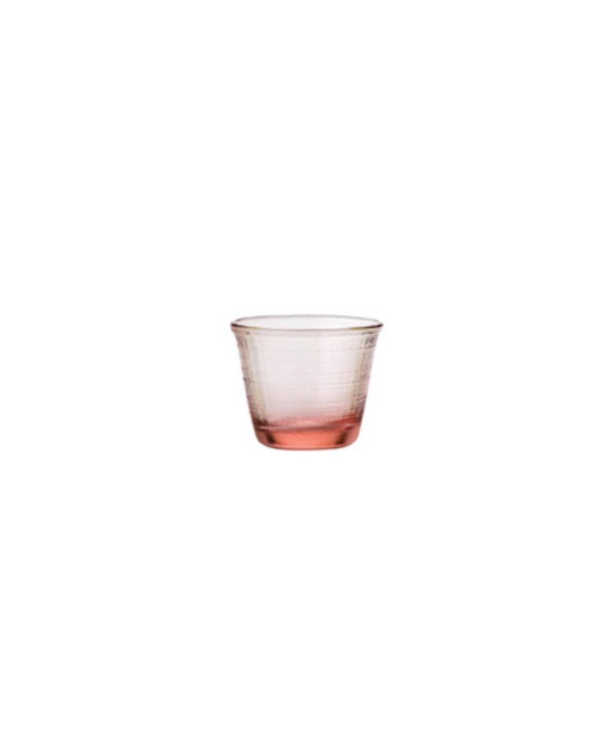 Bicchiere rosso in vetro Denim set 6 pezzi - Every Day