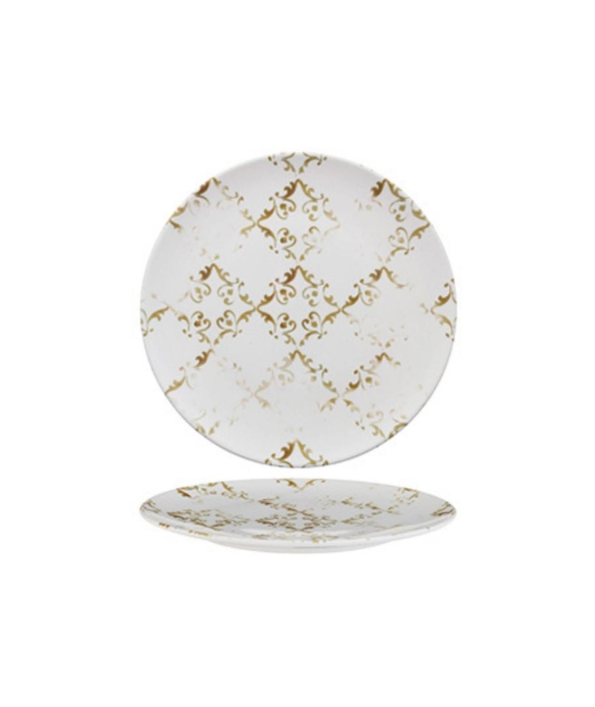 Piatto piano in porcellana Corinto set 6 pezzi - Morini