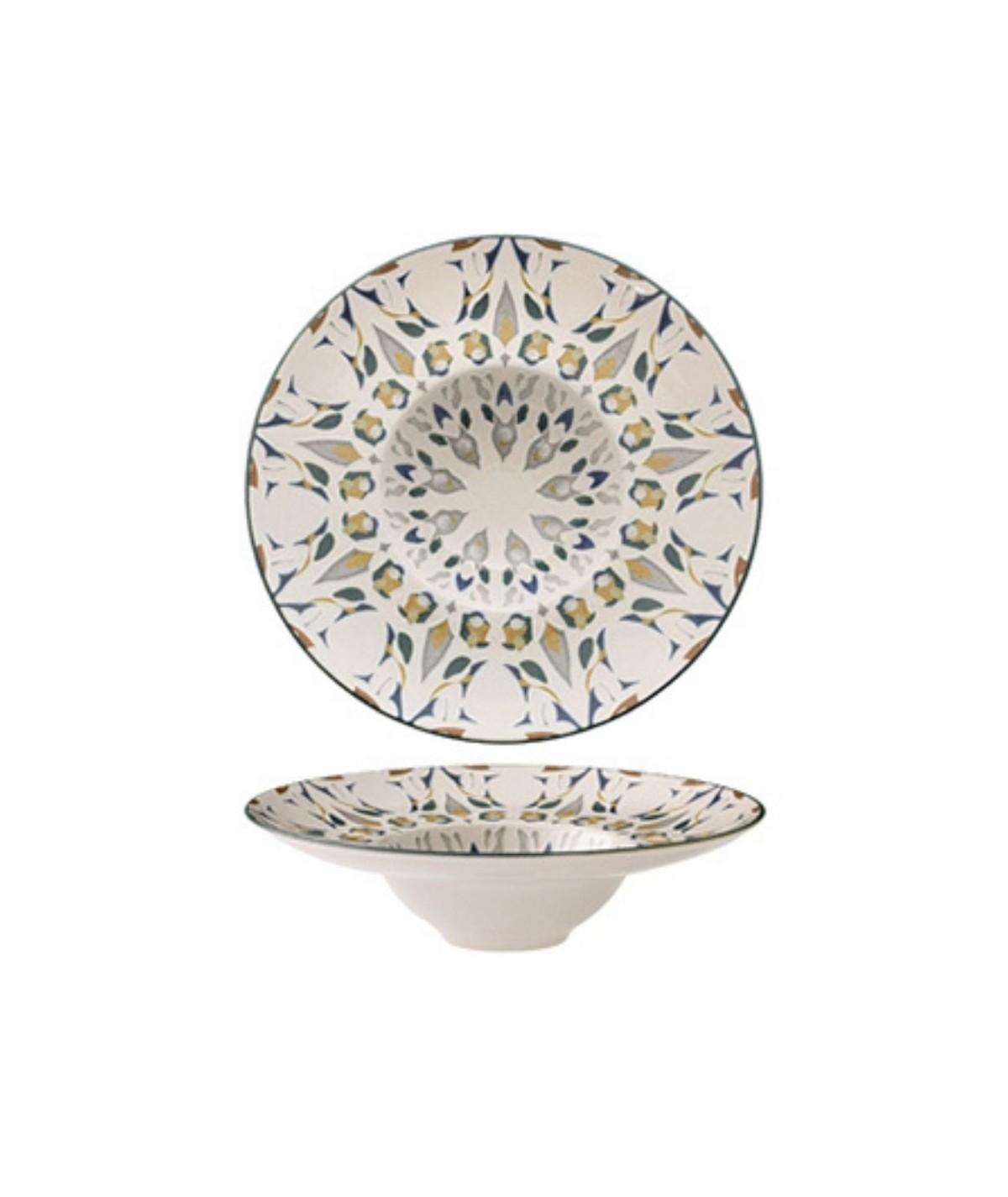 Piatto fondo pastabowl in porcellana Amalfi set 6 pezzi - Morini