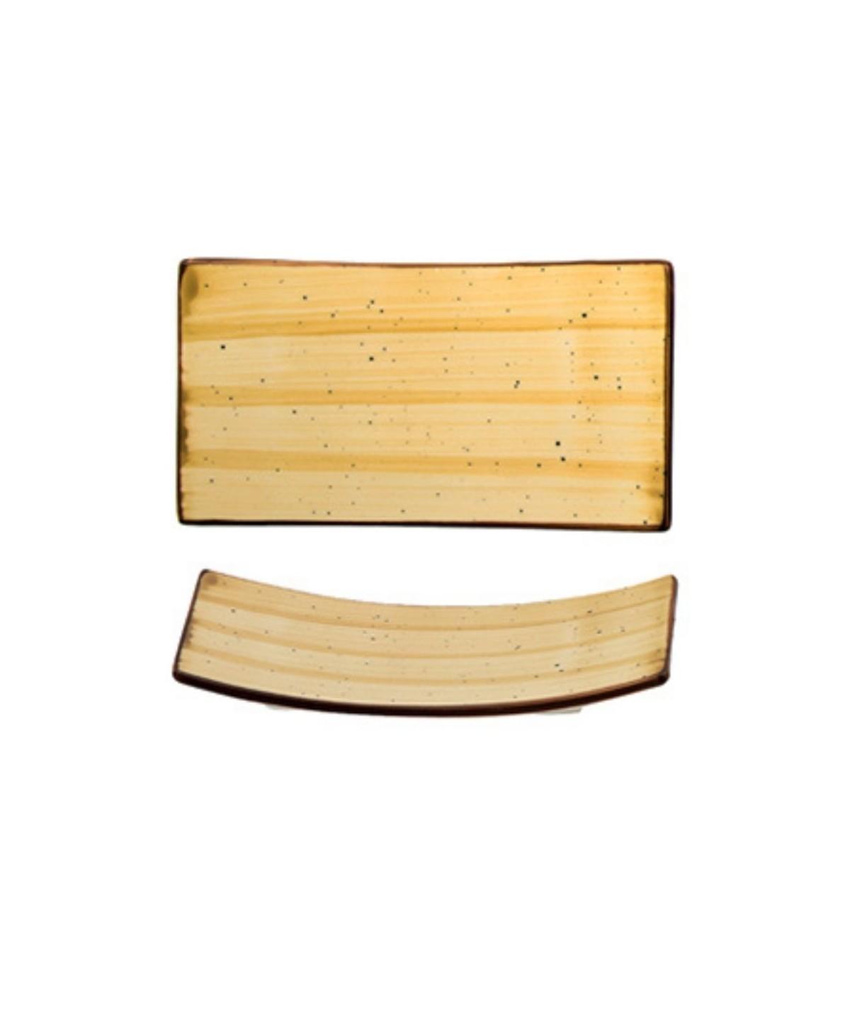 Vassoio rettangolare per salse o aperitivi ocra set 6 pezzi -