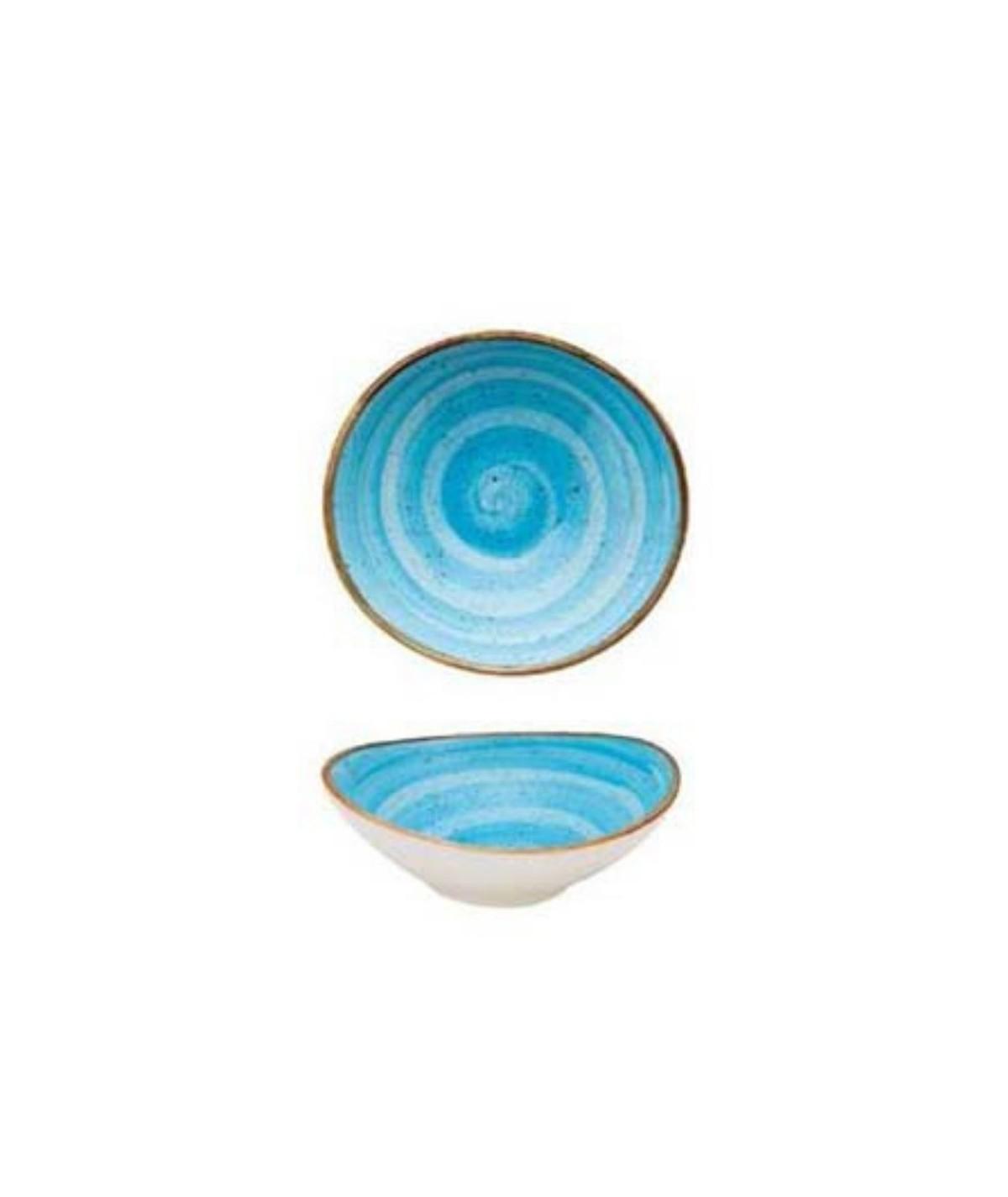 Coppetta ovale per salse o aperitivi azzurra set da 6 pezzi -