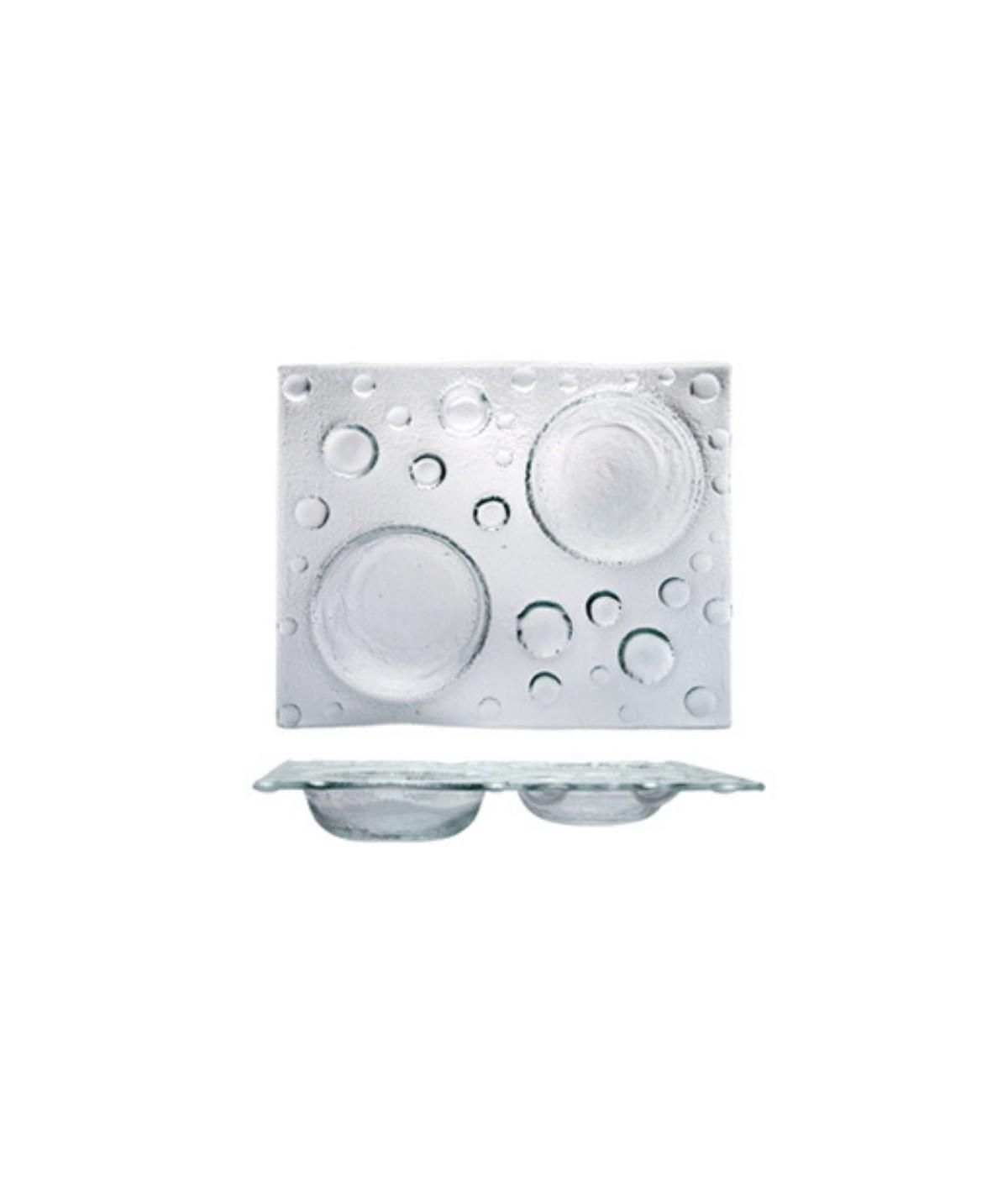 Antipastiera rettangolare in vetro bis Bubble - Morini