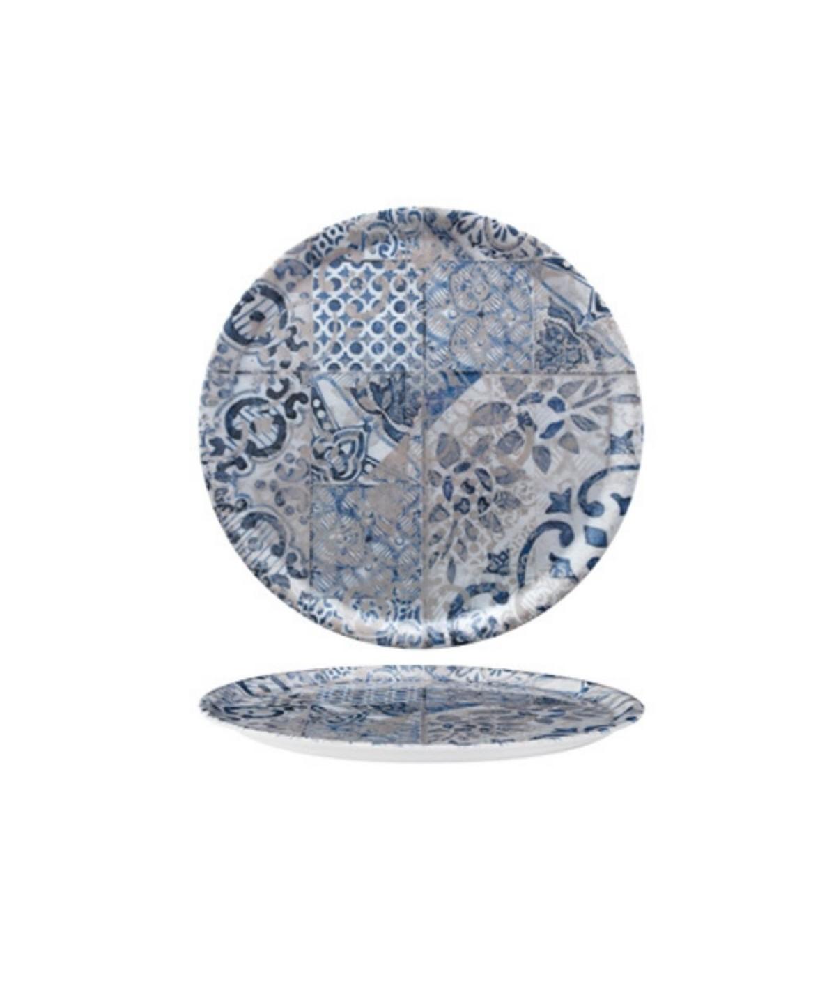 Piatto da pizza grigio blu Cordoba set 6 pezzi - Saturnia