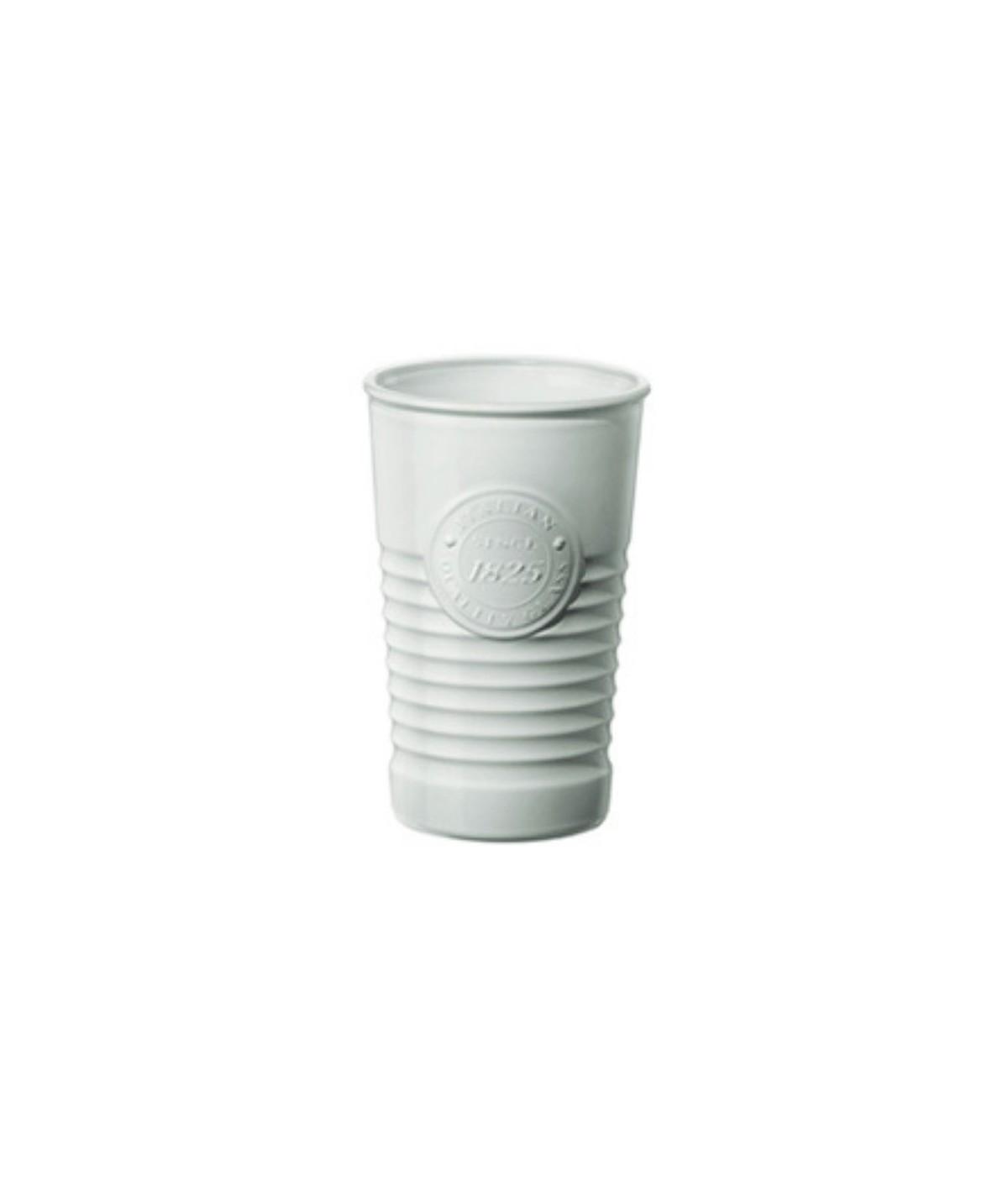 Bicchieri in ceramica bianca officina - Bormioli