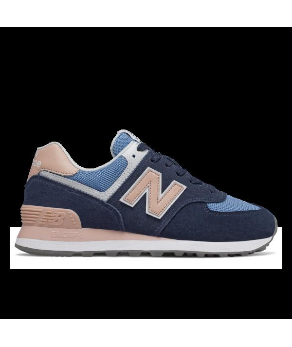 wholesale dealer b9c33 8f3c7 New Balance 574 WND Sneaker women blue pink